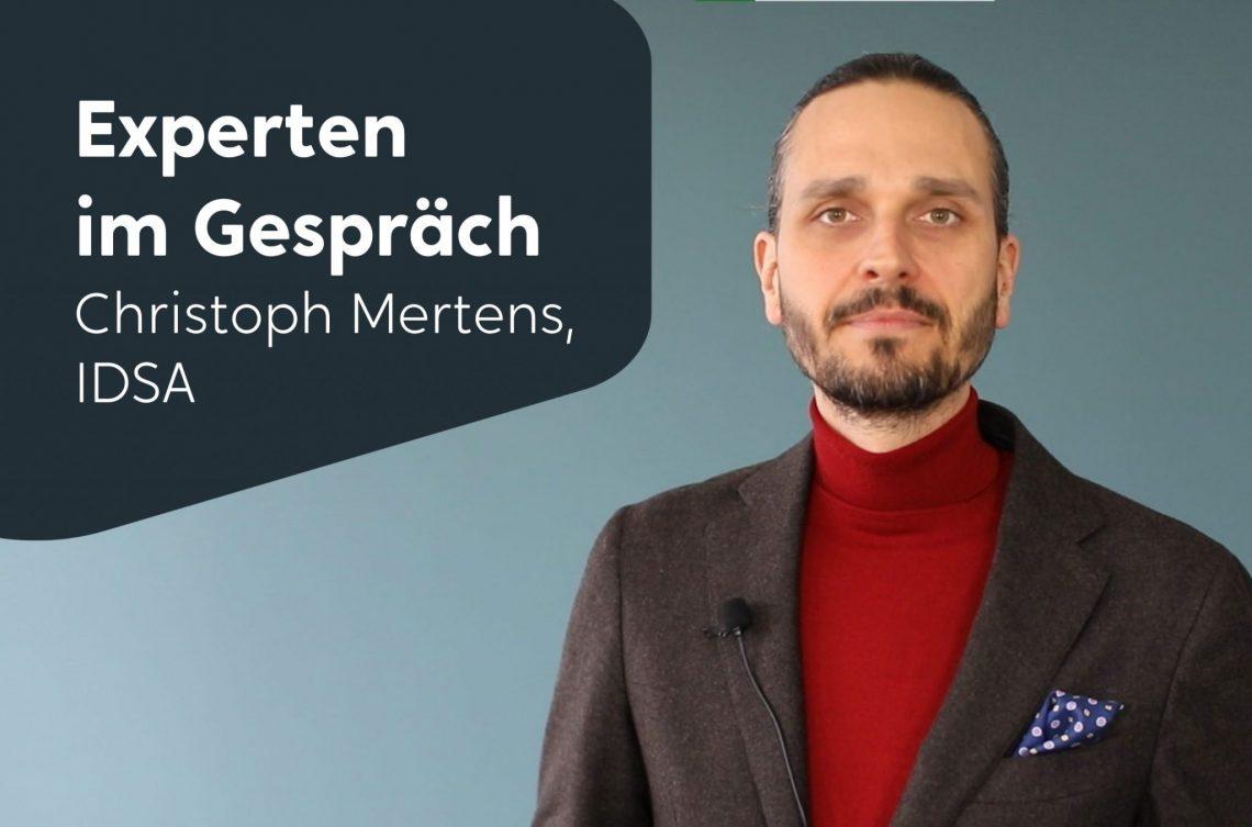 Porträt Christoph Mertens, IDSA